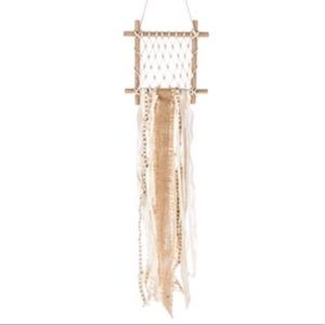 Other - Boho Macrame Wood Dreamcatcher wall hanging